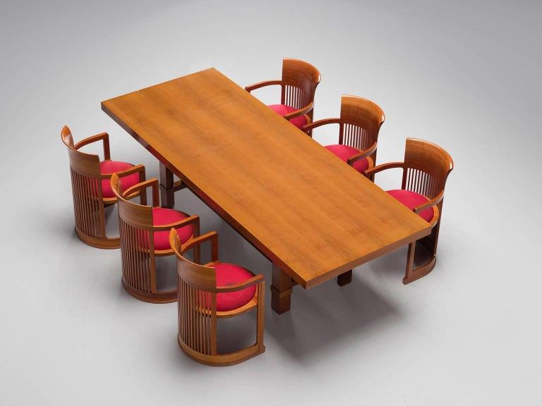 Frank Lloyd Wright Taliesin Dining Table And Barrel