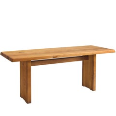Pierre Chapo Patinated Elm Dining Table
