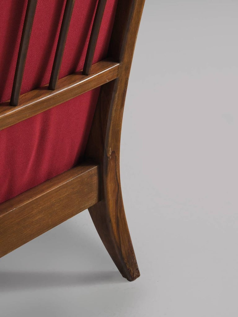 Italian Easy Chair for Cassina in Walnut For Sale 1
