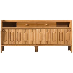 Guillerme & Chambron Sideboard in Oak and Ceramic