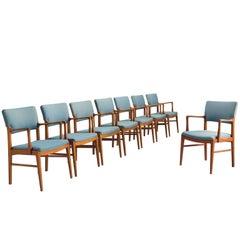 Set of Scandinavian Dining Chairs in Teak