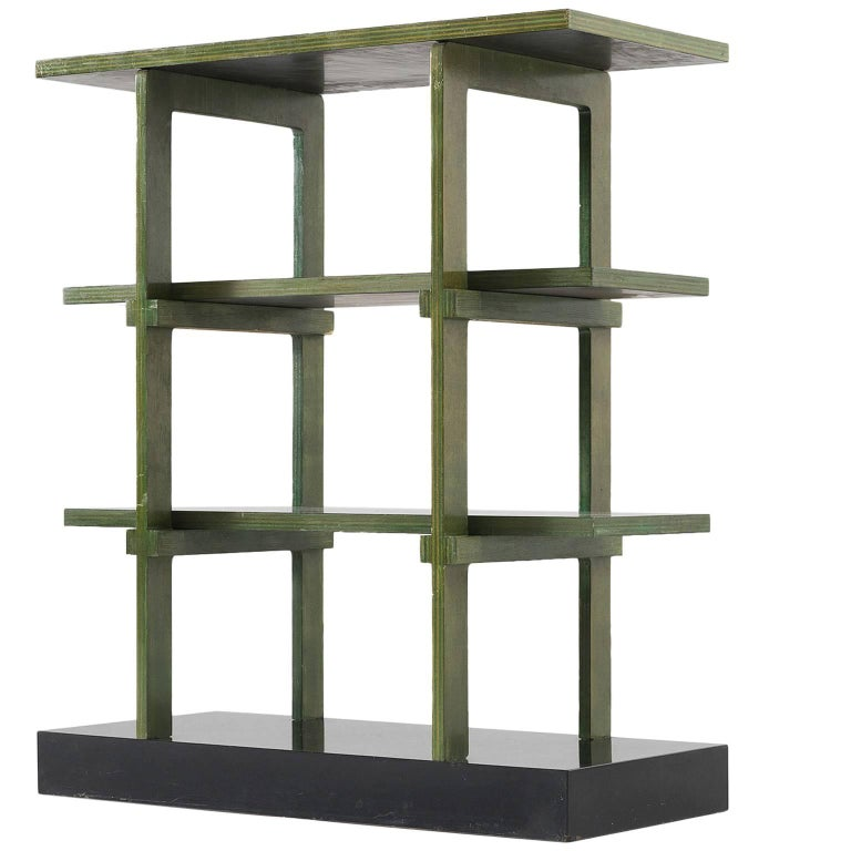 Gabetti & Isola Black and Green Bookcase
