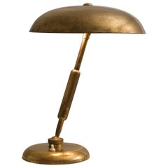 Italian Desk Light in Brass, 1940s