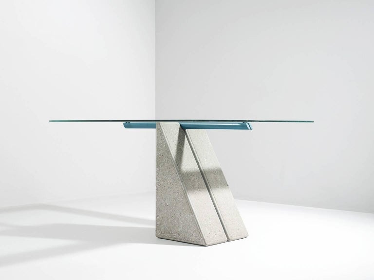 Mid-Century Modern Giovanni Offredi Dining Table for Saporiti For Sale