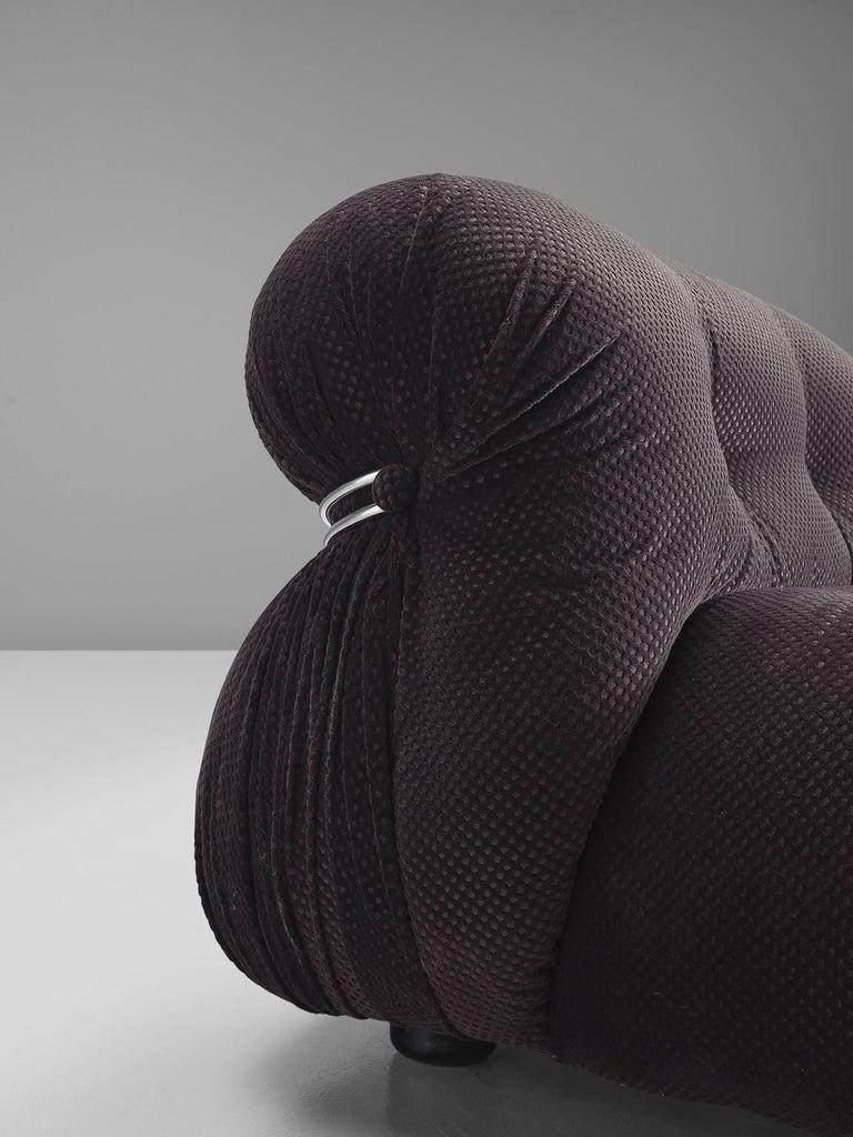 Steel Afra & Tobia Scarpa 'Soriana' Lounge Chair