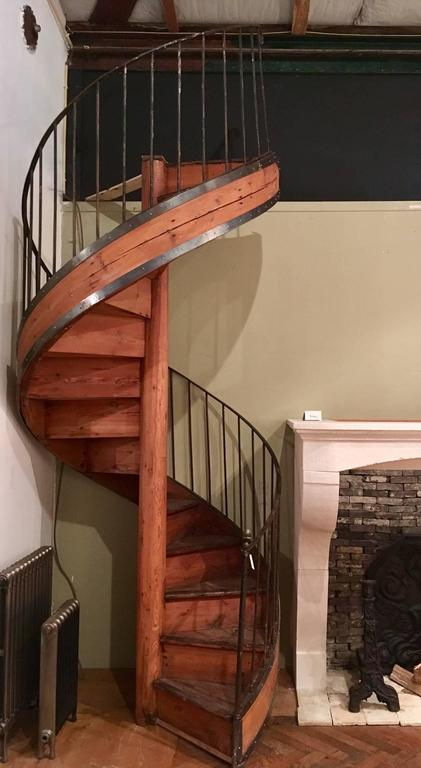 Early 20th Century Pine Spiral Staircase For Sale At 1stdibs