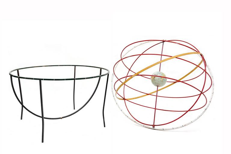 Dutch Decorative kinetic sculpture of the earth and orbits For Sale