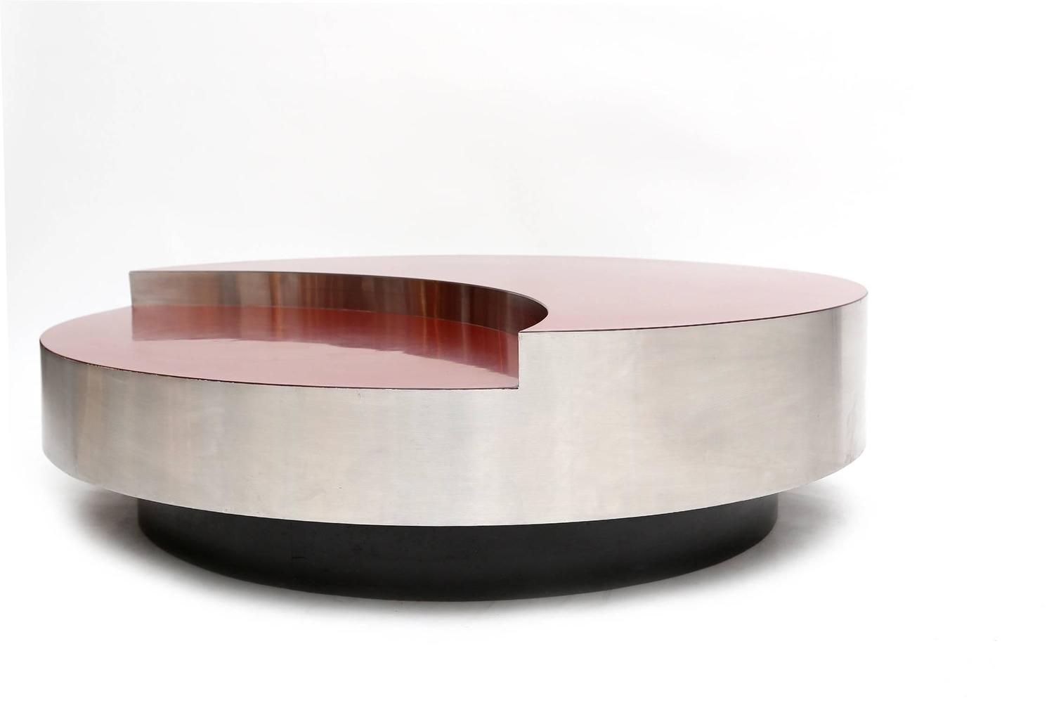 Willy rizzo revolving coffee table at 1stdibs for Table willy rizzo