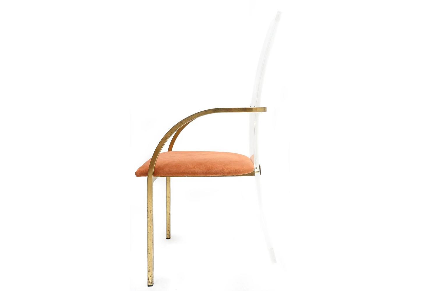 maison jansen perspex dining chairs at 1stdibs