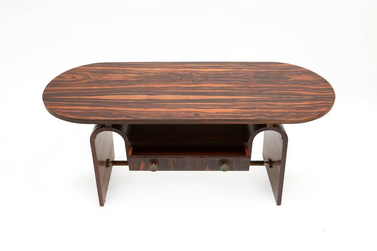 Modernist macassar Art Deco coffee table for Metz & Co In Good Condition For Sale In Antwerp, BE