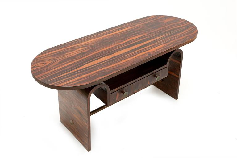 Mid-20th Century Modernist macassar Art Deco coffee table for Metz & Co For Sale