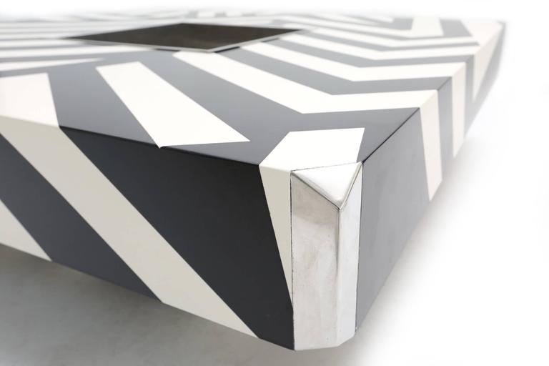 Painted Willy Rizzo Dazzle Table