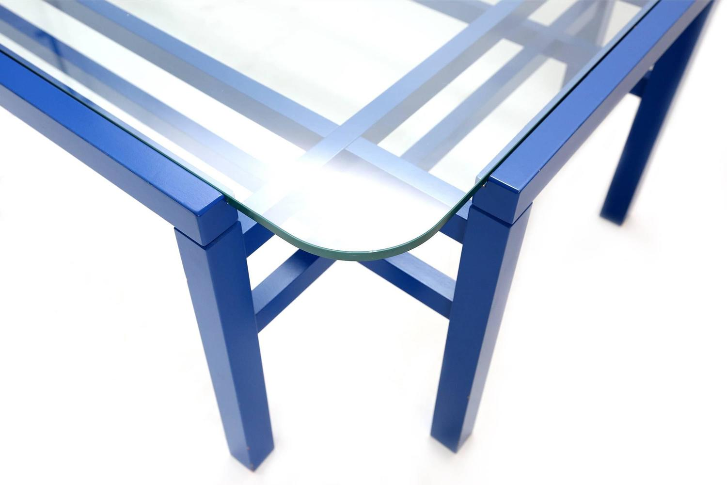 Modernist Blue Coffee Table At 1stdibs