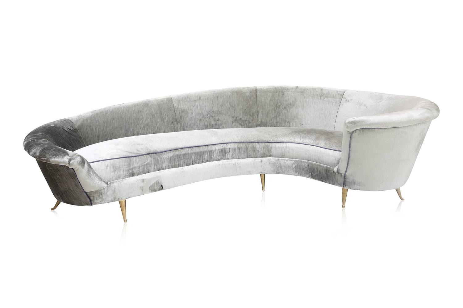 curved high end sofa for sale at 1stdibs