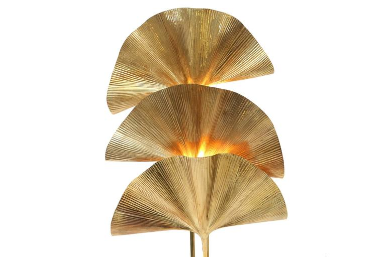 Italian Gingko Leaf Floor Lamp For Sale