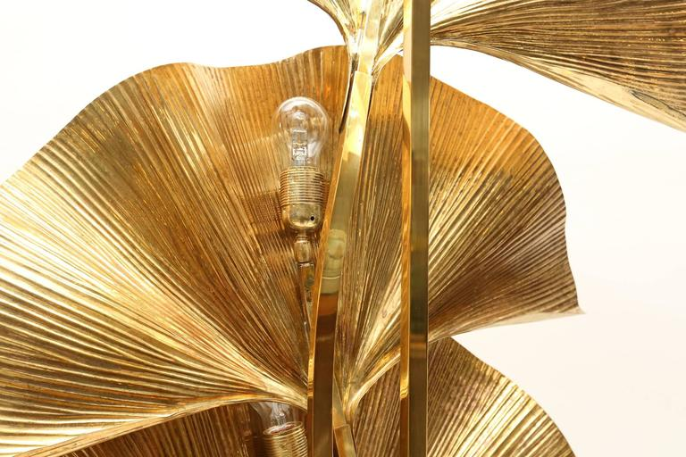 Late 20th Century Gingko Leaf Floor Lamp For Sale