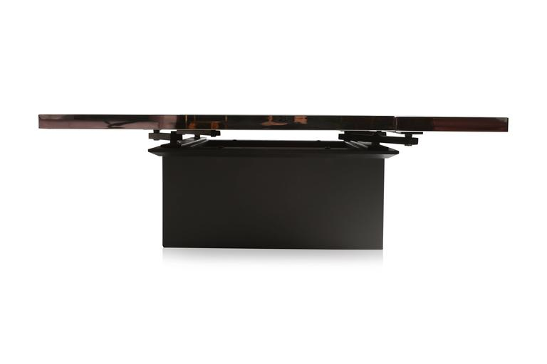 Black And Chrome Bar Coffee Table For Sale At 1stdibs