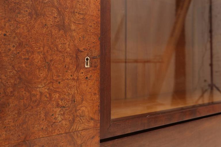 Belgian Charles Van Beerleire Art Deco Mahogany Credenza For Sale