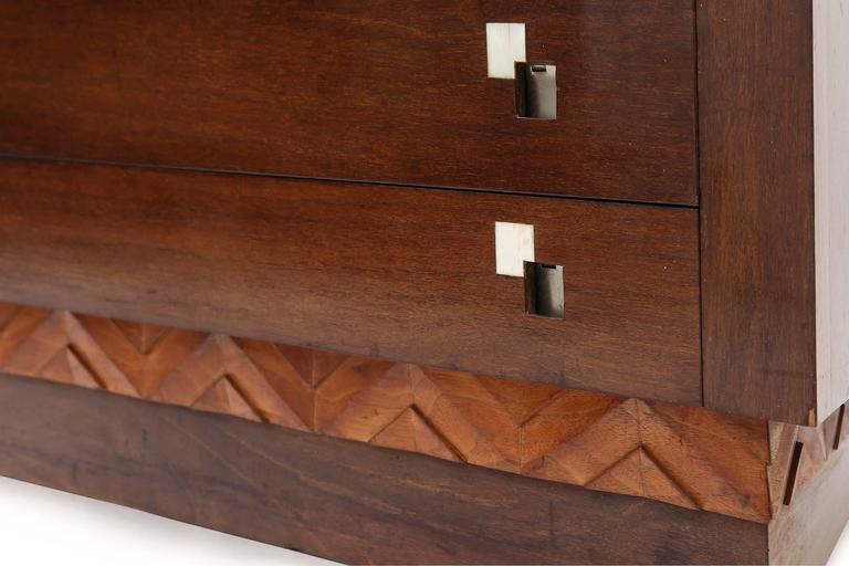 Charles Van Beerleire Art Deco Mahogany Credenza In Good Condition For Sale In Antwerp, BE