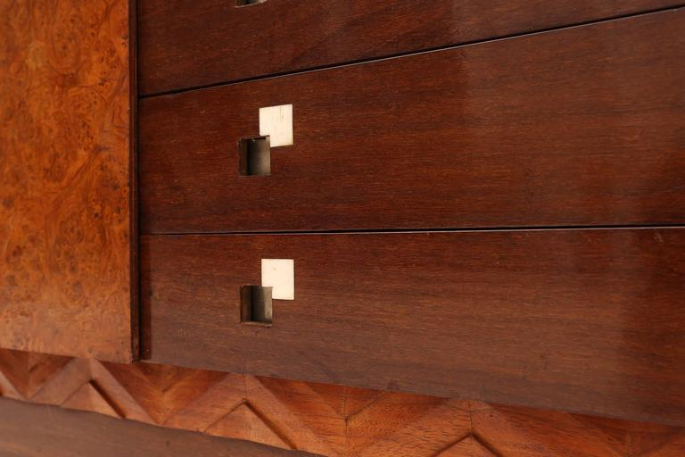 Mid-20th Century Charles Van Beerleire Art Deco Mahogany Credenza For Sale