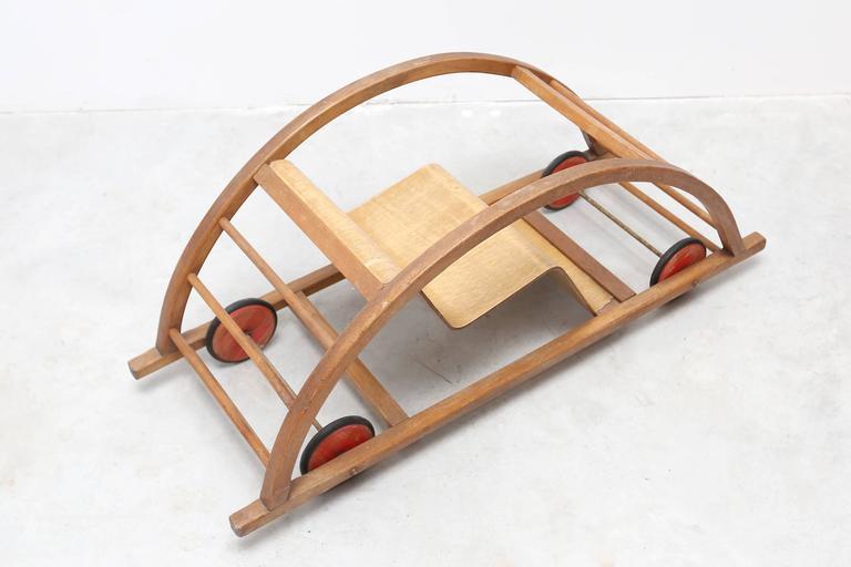 German Hans Brockhage Schaukelwagen Swing and Race Car Toy For Sale