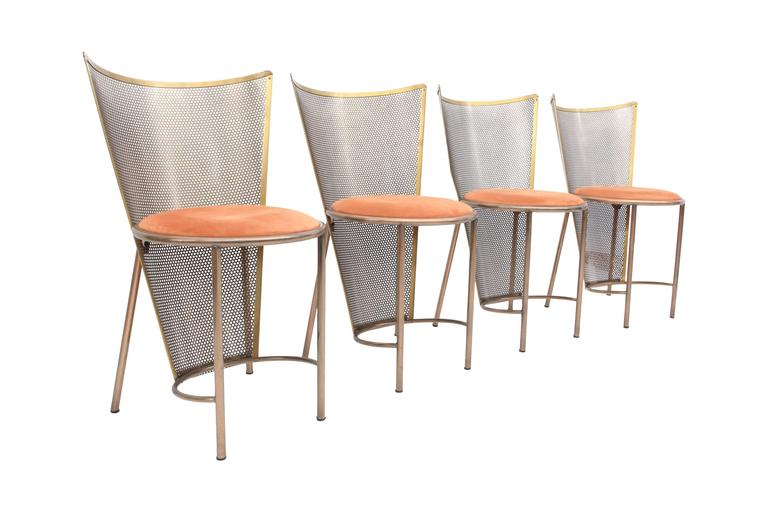 Late 20th Century Post-modern Frans Van Praet Limited Edition Expo '92 Brass Chairs For Sale