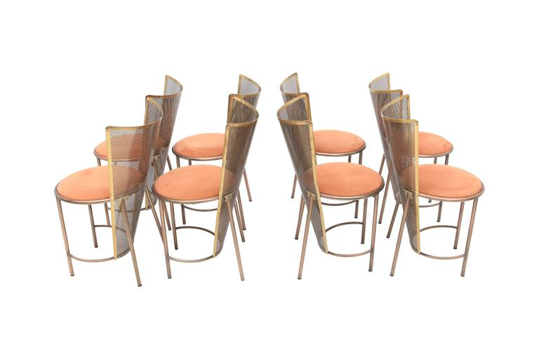 Post-modern Frans Van Praet Limited Edition Expo '92 Brass Chairs For Sale 2