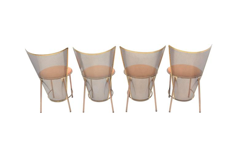 Post-modern Frans Van Praet Limited Edition Expo '92 Brass Chairs For Sale 4