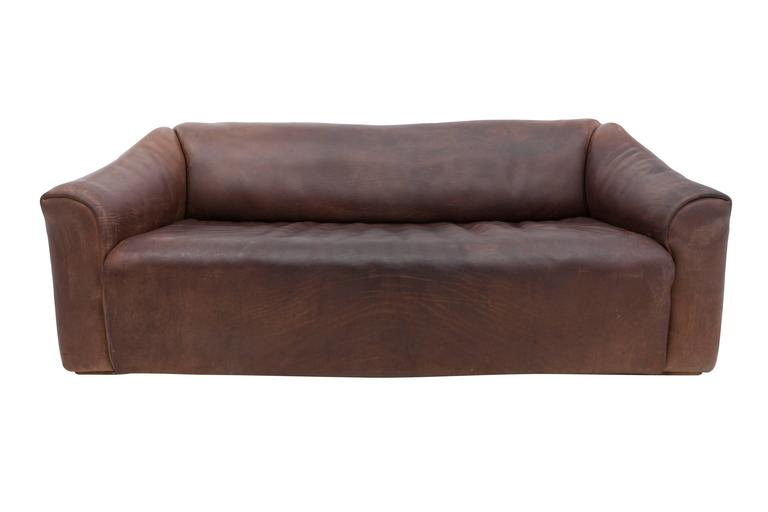de sede ds 47 leather sofa with ottoman at 1stdibs. Black Bedroom Furniture Sets. Home Design Ideas