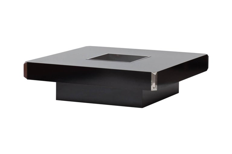 Hollywood Regency Willy Rizzo Coffee Table for Cidue, Italy, 1970s For Sale