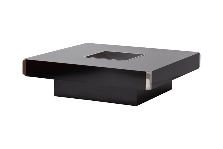 Late 20th Century Willy Rizzo Coffee Table for Cidue, Italy, 1970s For Sale