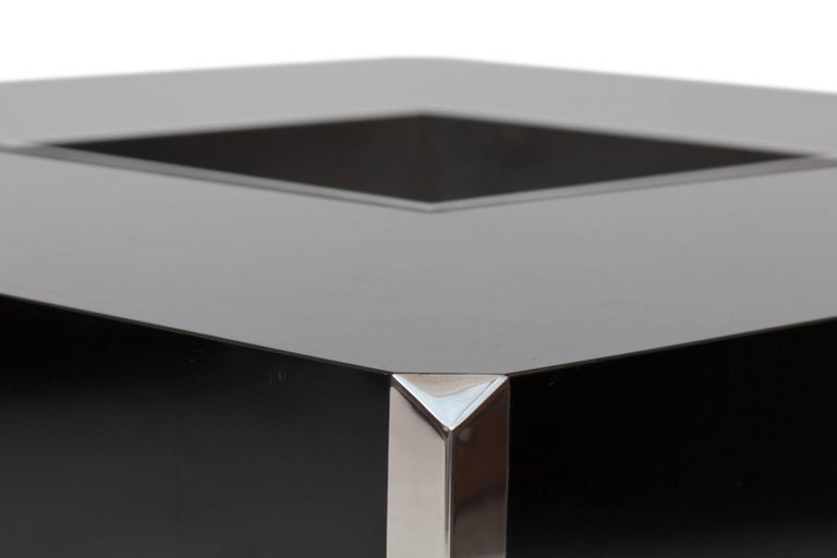 Lacquered Willy Rizzo Coffee Table for Cidue, Italy, 1970s For Sale