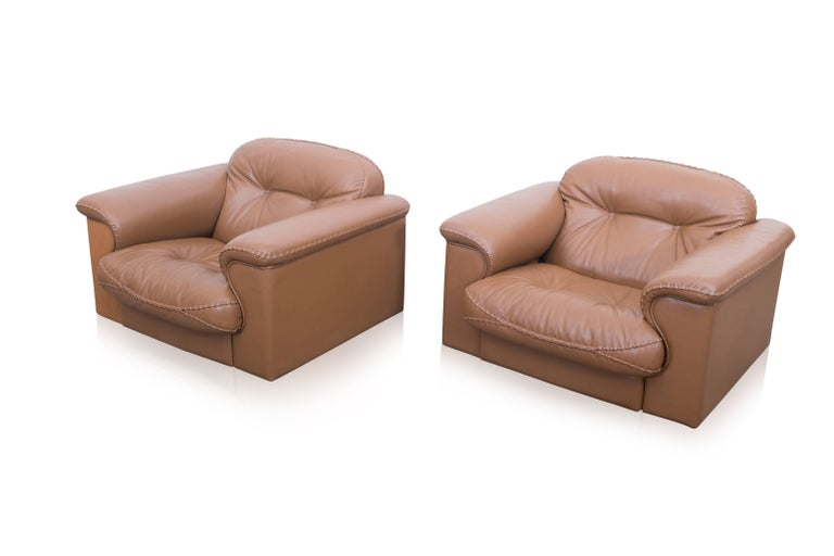 Set of Two Adjustable DS 101 Lounge Chairs by De Sede For Sale 2