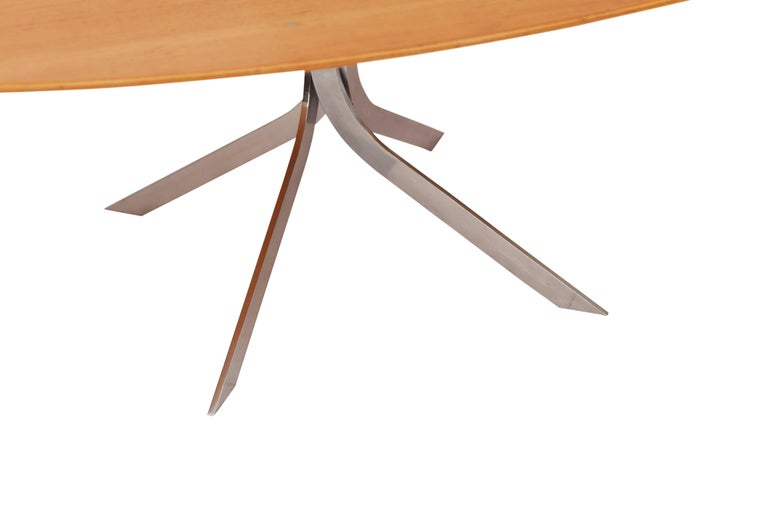 Mid-Century Modern Mid-Century modern Danish design oval coffee table  For Sale