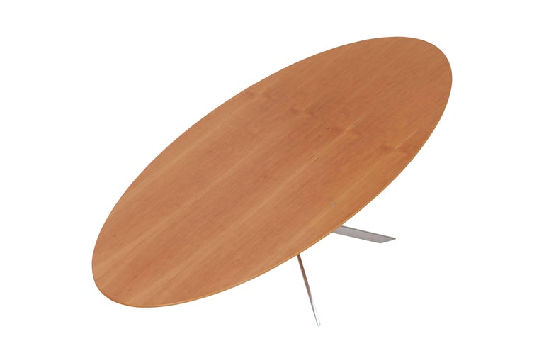 Birch Mid-Century modern Danish design oval coffee table  For Sale