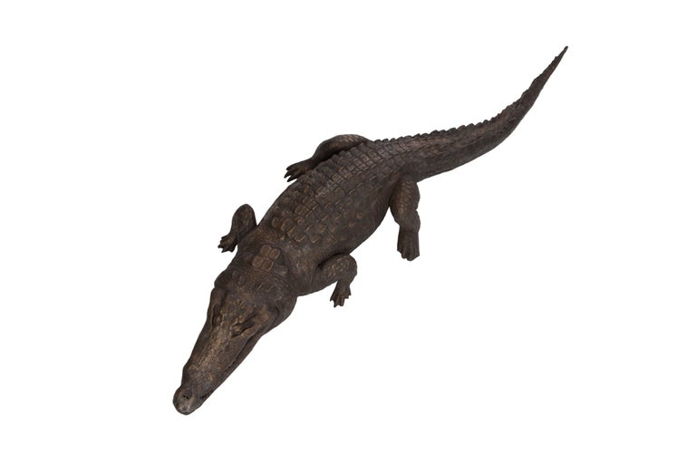 Bronzed Life-Size Crocodile sculpture  For Sale 1