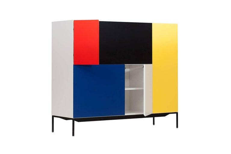 Mondriaan De Stijl Cabinet for Pastoe In Excellent Condition For Sale In Antwerp, BE