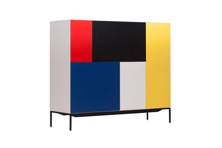Dutch Mondriaan De Stijl Cabinet for Pastoe For Sale