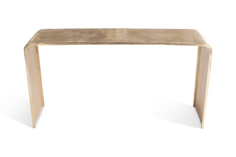 Hand Casted Bronze Console Table 