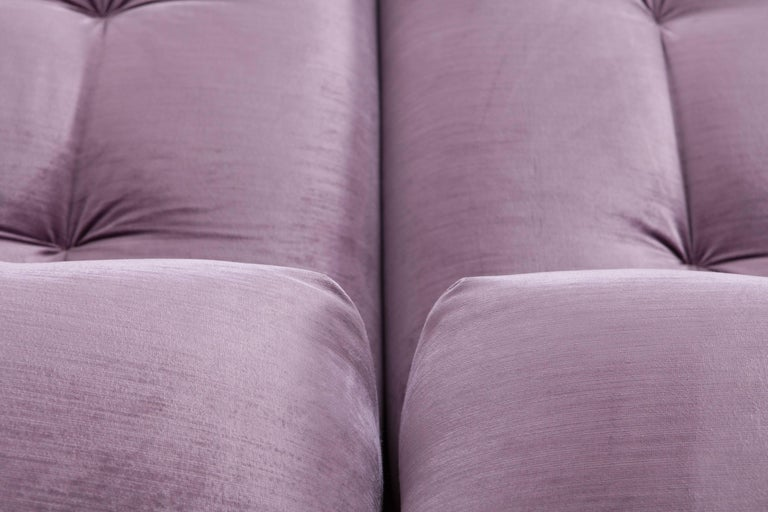 Mah Jong sectional Sofa in Purple Velvet by Roche Bobois For Sale 6