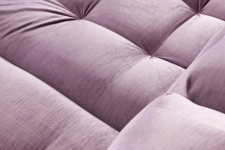 Mah Jong sectional Sofa in Purple Velvet by Roche Bobois For Sale 7