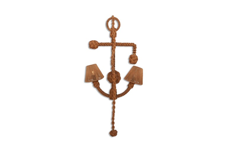 Audoux Minet 'Anchor' Rope Sconce For Sale 1