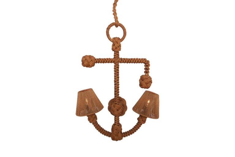 Audoux Minet 'Anchor' Rope Sconce For Sale 3