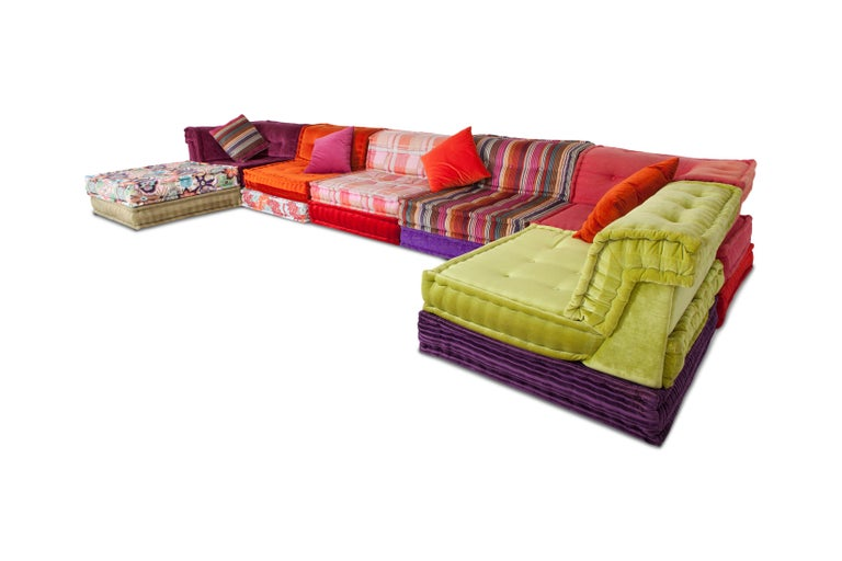 French Mah Jong Modular Composition Sofa in Missoni Home for Roche Bobois For Sale