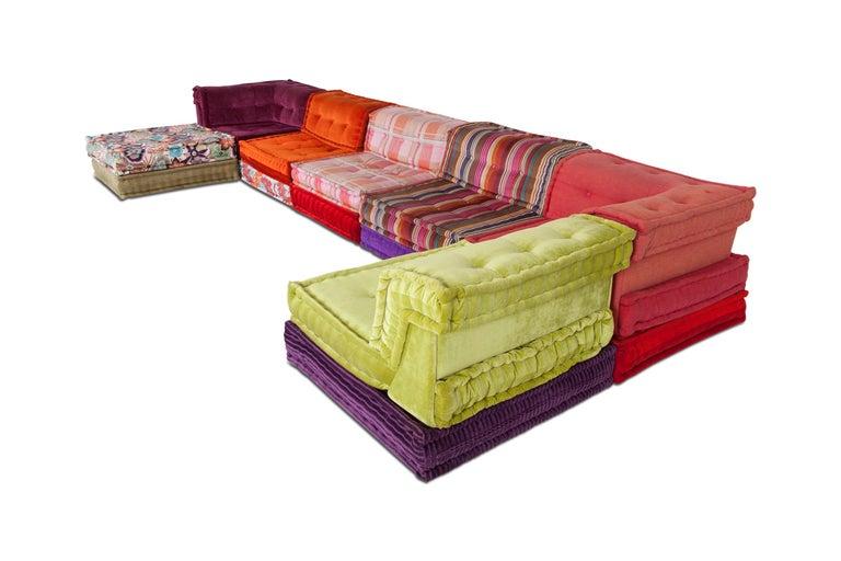 Mid-Century Modern Mah Jong Modular Composition Sofa in Missoni Home for Roche Bobois For Sale