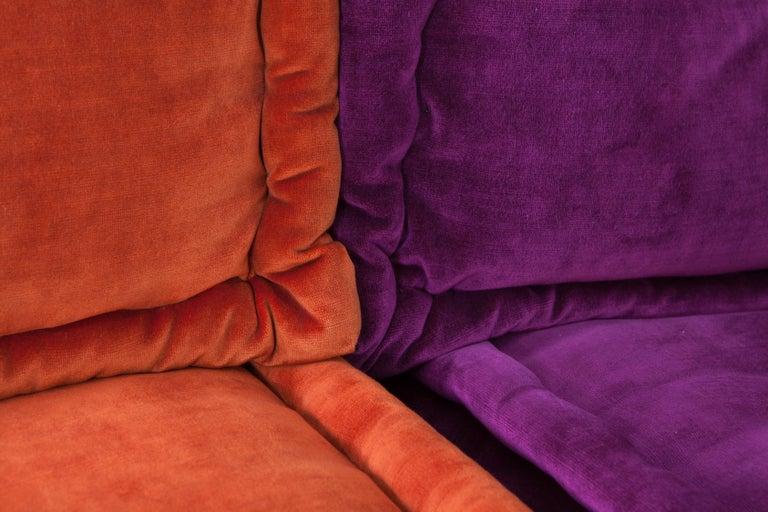 Velvet Mah Jong Modular Composition Sofa in Missoni Home for Roche Bobois For Sale