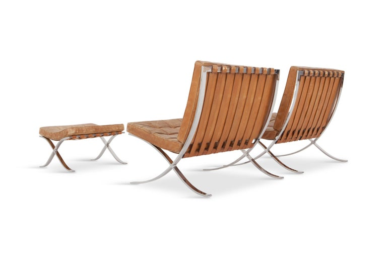 Barcelona Lounge Chairs by Ludwig Mies van der Rohe in ...
