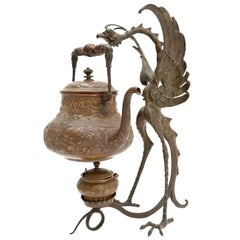 19th Century Bronze Garuda Incense Burner