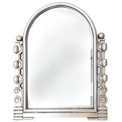 Art Deco Silver Giltwood Mirror