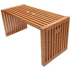 Modernist Italian Desk with Brevettato Wooden Elements